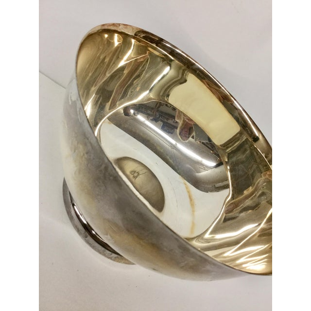 1970s Art Nouveau Sheffield Silver-Plated Revere Bowl For Sale - Image 11 of 13