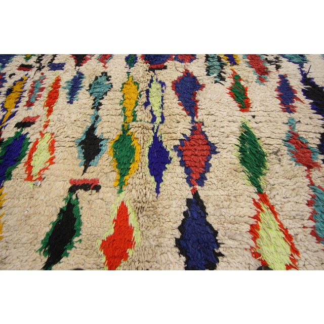 Berber Tribes of Morocco Tribal Style Vintage Moroccan Azilal Rug, Colorful Moroccan Berber Rug, 3'4 X 5'10 For Sale - Image 4 of 6