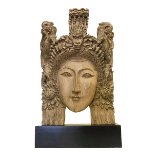 Large Goddess Effigy Mounted on Stand For Sale