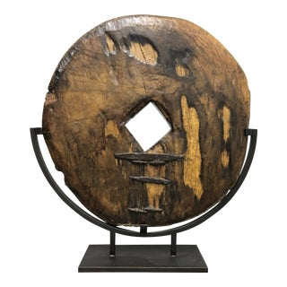 19th Century Traditional Wood Cart Wheel