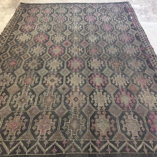 """1960's Turkish Kilim - 6'4"""" X 9'2"""" For Sale In Richmond - Image 6 of 12"""
