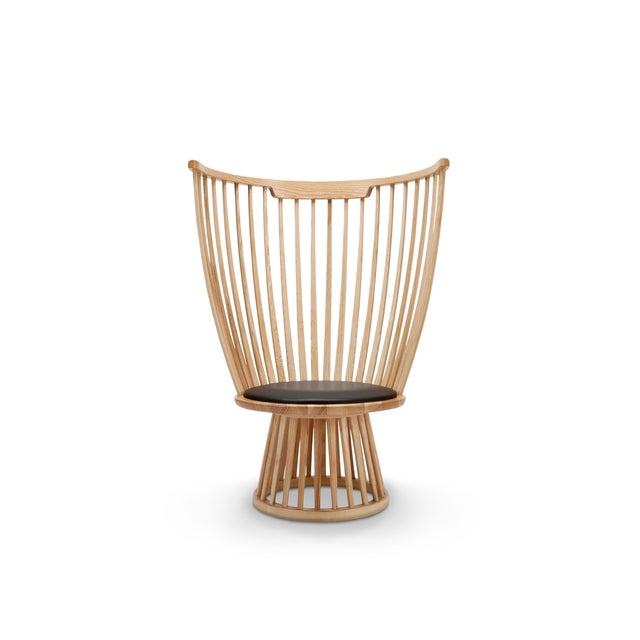 Wood Tom Dixon Fan Chair in Natural For Sale - Image 7 of 7