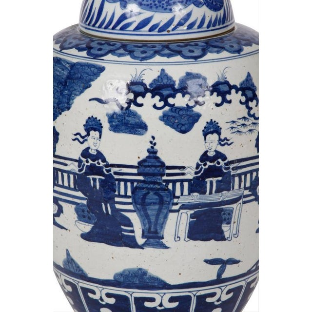 Asian Chinese Ginger Jars - A Pair For Sale - Image 3 of 5