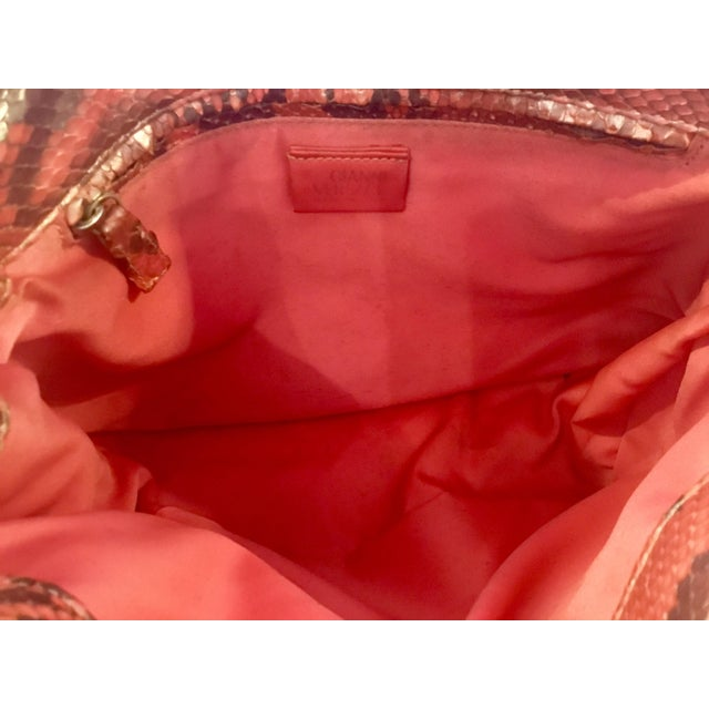 1990s Gianni Versace Iridescent Pink Python Shoulder Bag For Sale - Image 11 of 12