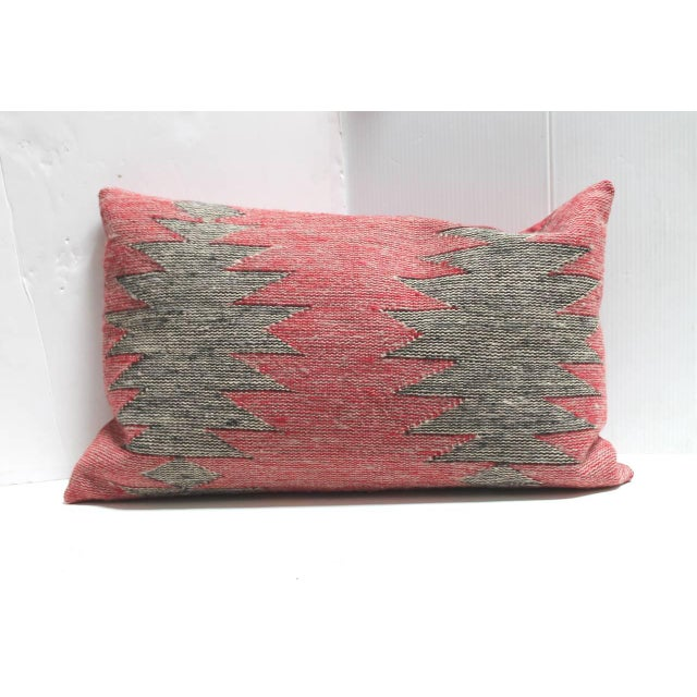This is a set of three Navajo Indian weaving geometric bolster pillows. We are selling them as a collection of three...
