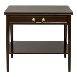 Pentreath & Hall Collection Large Bedside Table in Brown With Kelly Green Drawer Interior For Sale