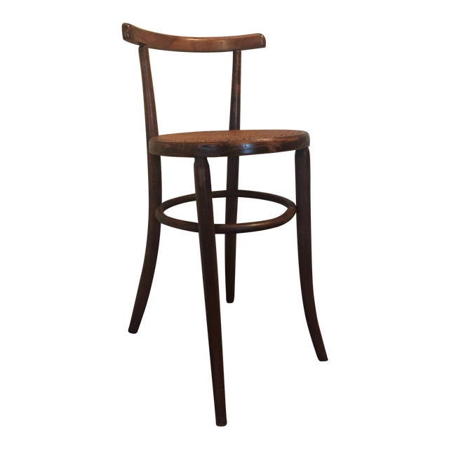 1930s Antique Thonet Style Bentwood Counter Bar Stool For Sale