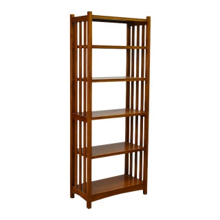 Crafters and Weavers Mission Spindle Side 4 Shelf Bookcase Michael's Cherry (Mc1) For Sale