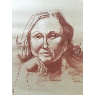 Vintage Sepia Portrait of a Woman For Sale