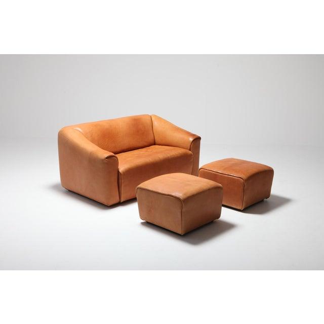 De Sede Ds 47 Cognac Leather Sofa For Sale - Image 9 of 12