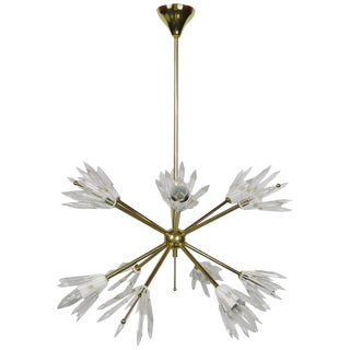 1970s Mid-Century Modern Emile Steijnar Ten-Light Chandelier For Sale