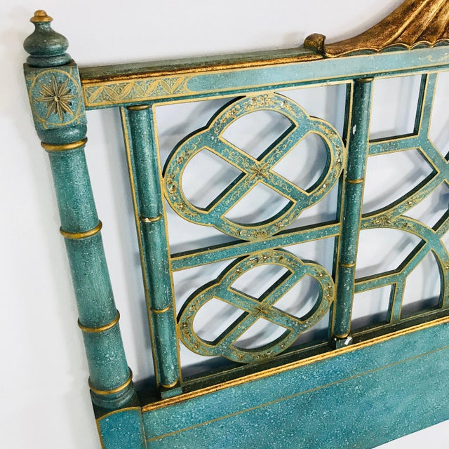 Pair of Twin Chinoiserie Pagoda Beds by Kittinger For Sale - Image 11 of 12