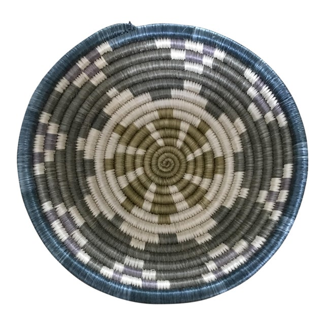 African Multicolored Coil Basket - Image 1 of 5