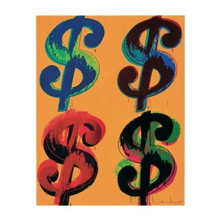 Andy Warhol-Four Dollar Sign-2000 Poster For Sale
