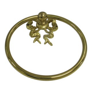 Mid-Century Brass Towel Ring For Sale