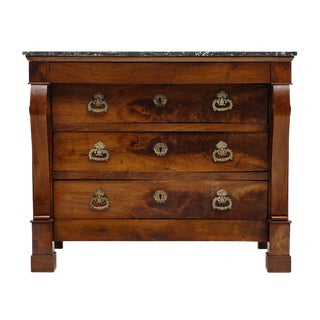 French Restauration Period Walnut Chest of Drawers For Sale