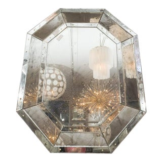 Antique Glass Octagon Mirror For Sale