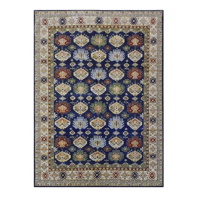 Afghan Kazak Wool Rug - 8'11''x11'9'' For Sale