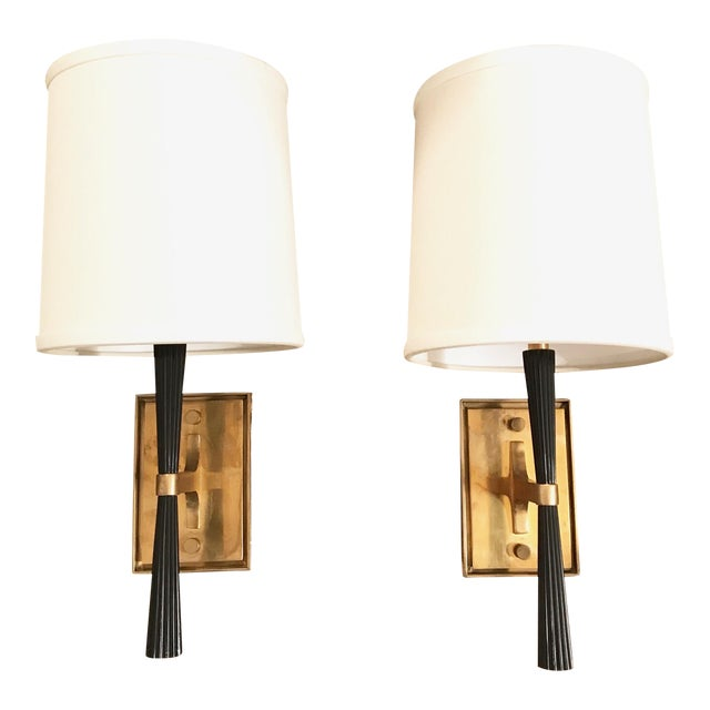 Pair of visual comfort refined rib sconces by barbara barry chairish pair of visual comfort refined rib sconces by barbara barry aloadofball Images