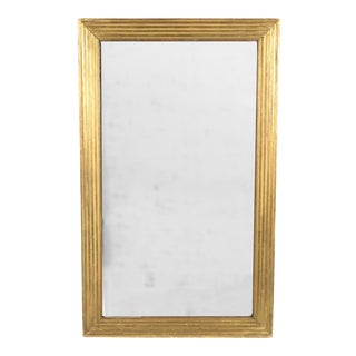 Mid 19th Century French Giltwood Fluted Mirror For Sale