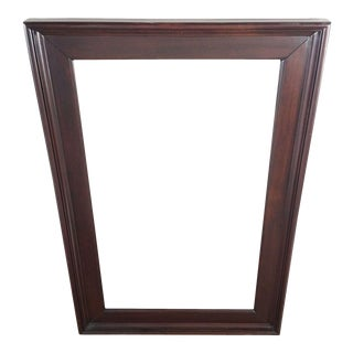 Contemporary Wood Framed Wall Mirror For Sale