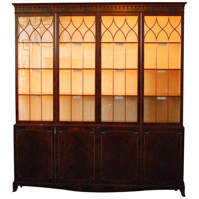 Historical George III Mahogany Display Cabinet Bookcase For Sale - Image 10 of 10