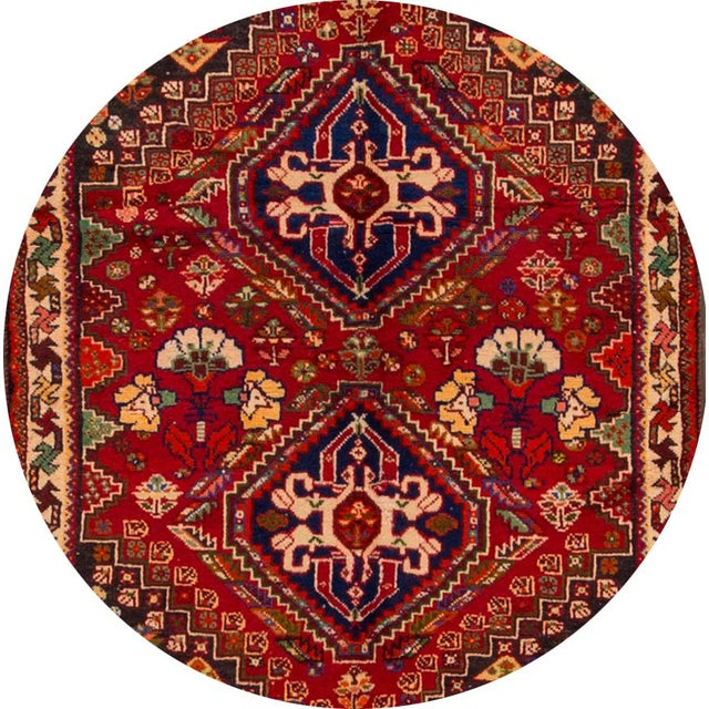 """Mid-20th Century Vintage Persian Shiraz Rug, 3'6"""" X 5' For Sale In New York - Image 6 of 7"""