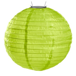 Soji Illume Outdoor Solar Powered Lantern in Lime For Sale