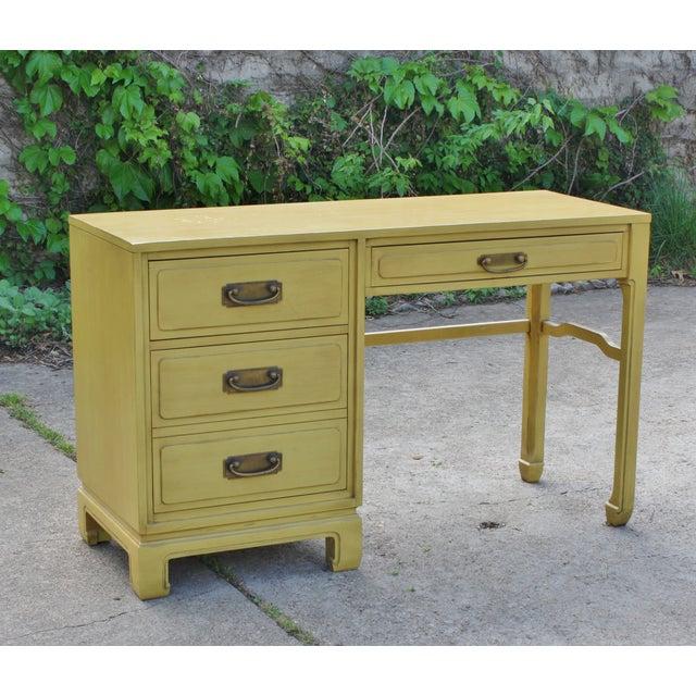 Mid-Century Ming Style Desk Vanity - Image 2 of 11