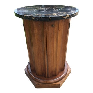 Marble Topped Pedestal Table For Sale