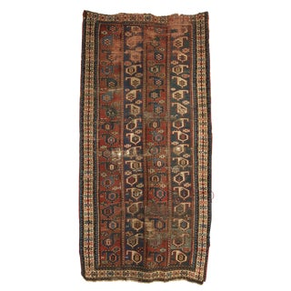 "Antique Caucasian Rug/Runner - 48"" X 93"""