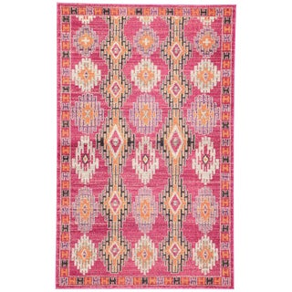 Jaipur Living Fiori Geometric Pink Area Rug - 5′3″ × 7′6″ For Sale