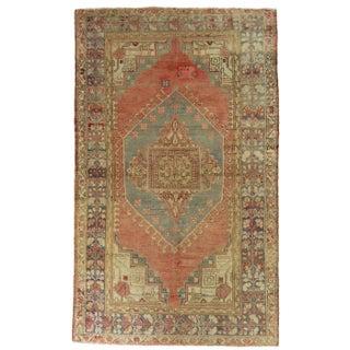 "Vintage Kula Turkish Carpet - 4'1"" x 6'10"""