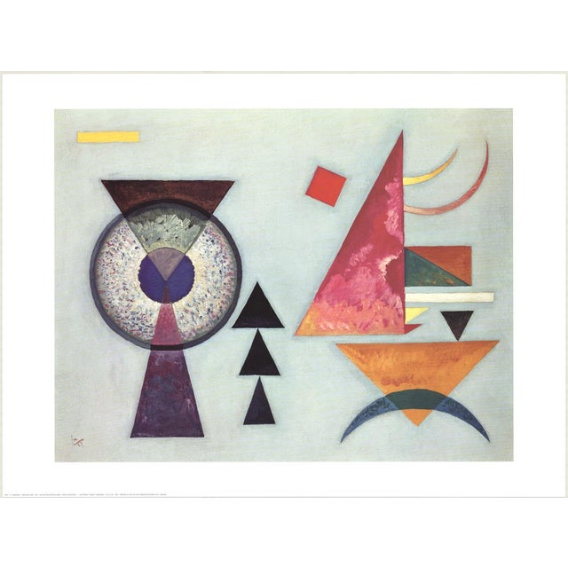 """Wassily Kandinsky Title: Soft Hard Year: 1927 Style: Geometric abstraction Medium: Lithographic print Size: 34"""" x 28""""..."""