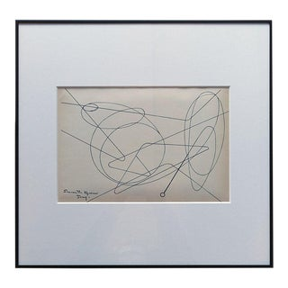 1956 Abstract Lithograph After Simonetta Vigevani Jung, Framed For Sale