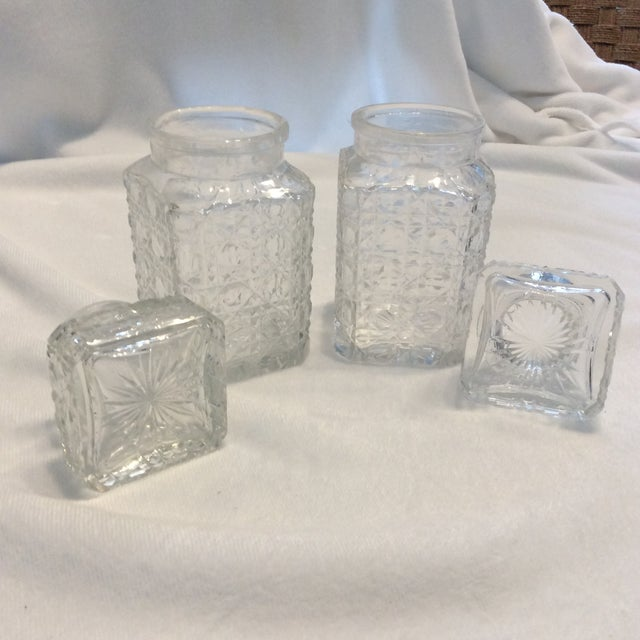 English Traditional Antique Glass Condiment Set - A Pair For Sale - Image 3 of 5