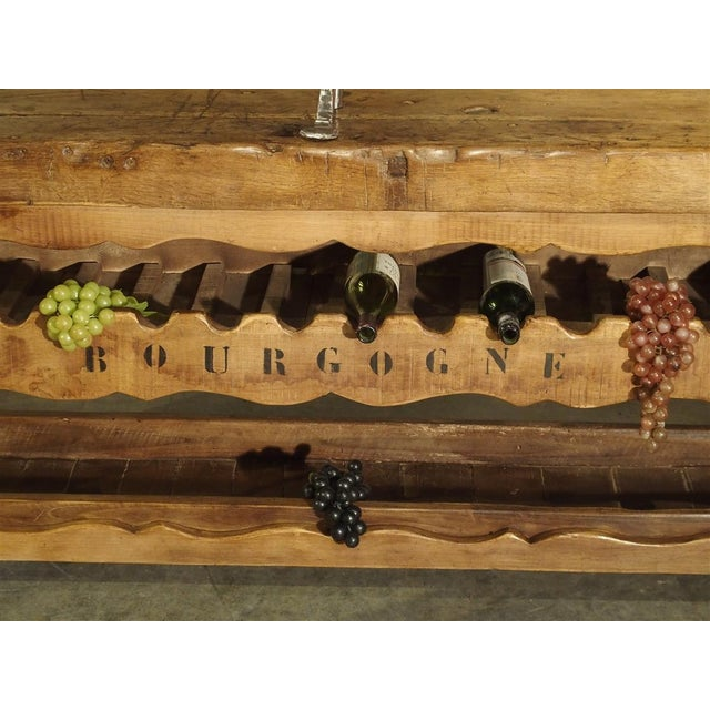 """Antique """"Bourgogne"""" French Wine Carrier Converted From a Workbench For Sale - Image 10 of 13"""