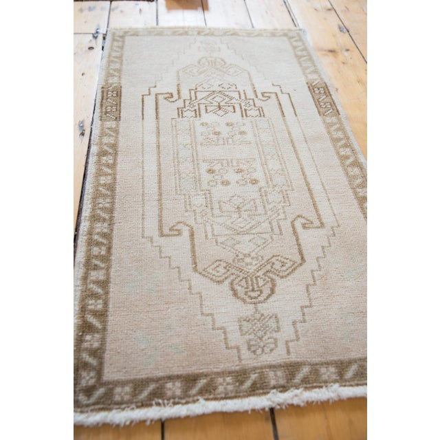 """Old New House Vintage Distressed Oushak Rug - 1'10"""" X 3'3"""" For Sale - Image 4 of 7"""