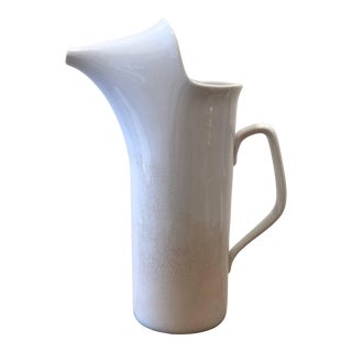 Vintage Mid Century LaGardo Tackett Ironstone Pitcher For Sale