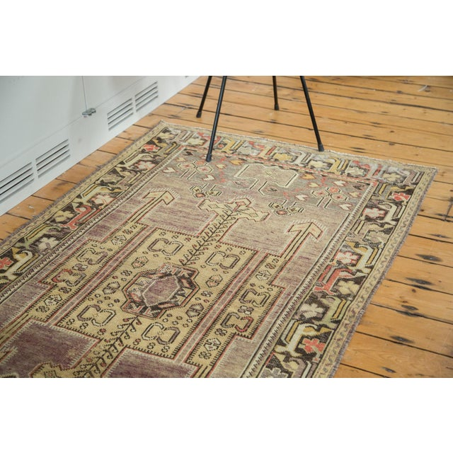 "Vintage Distressed Oushak Runner - 3'8"" X 6'10"" - Image 3 of 10"