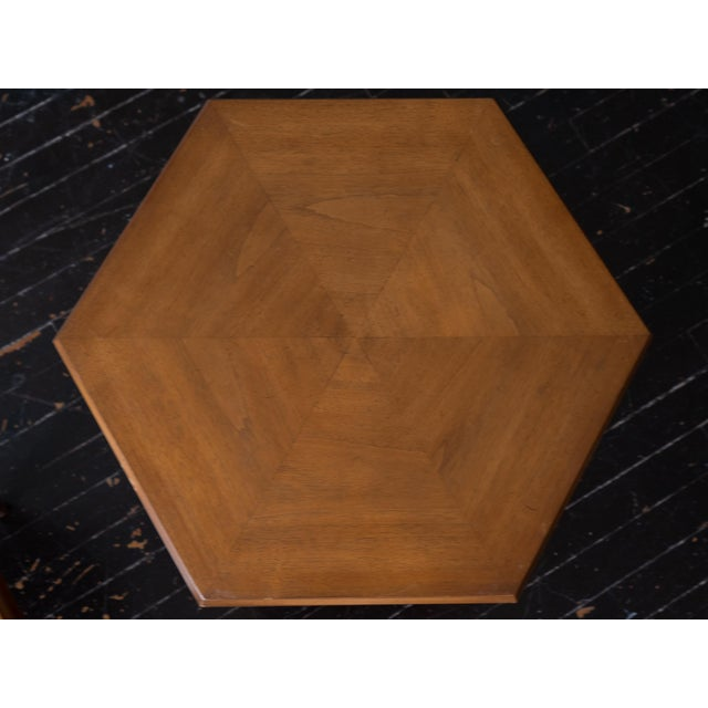 Mid-Century Modern Vintage MCM Hexagon Side Tables by Drexel Heritage - a Pair For Sale - Image 3 of 6