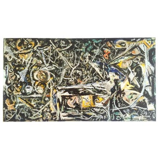"""Jackson Pollock Foundation Abstract Expressionist Collector's Lithograph Print """" Night Mist """" 1945 For Sale"""
