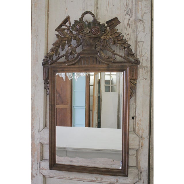 20th C. Rose Carved French Mirror - Image 3 of 3