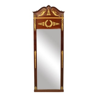French Empire Style Mahogany and Ormolu Wall Mirror For Sale