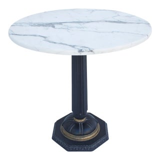 1940s Italian Marble Side Table For Sale