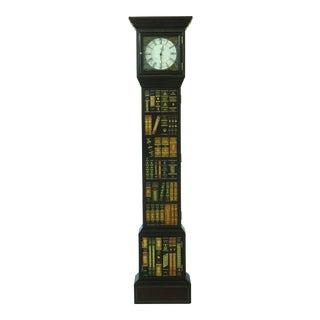Maitland Smith Bookspline Leather Grandfather Clock