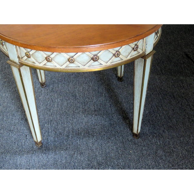 Mid 20th Century Mid 20th Century Regency Style Paint Decorated Side Tables - a Pair For Sale - Image 5 of 7