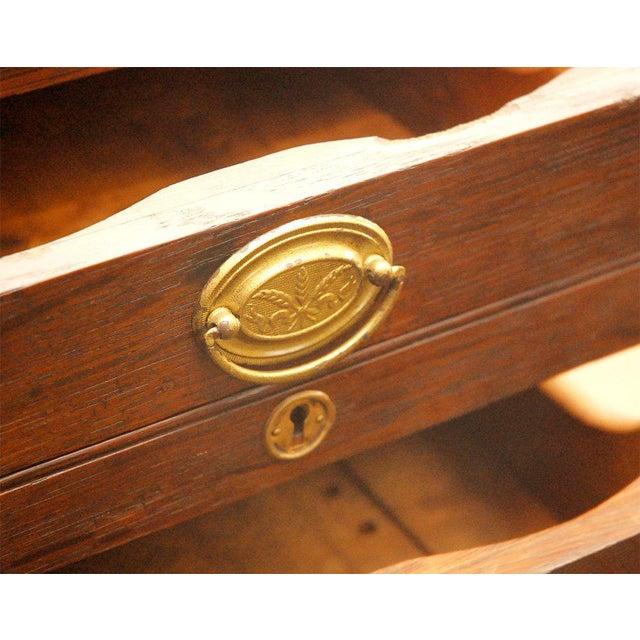 Brown Desk Top File Cabinet For Sale - Image 8 of 9