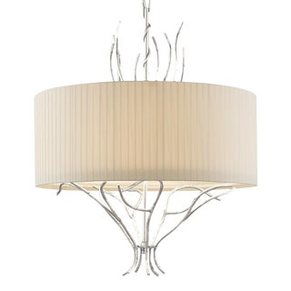 Florentine Antique Silver Leaf Lamp For Sale
