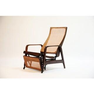 Reclining Chair in Brazilian Jacaranda Rosewood and Cane, Brazil, Circa 1940 Preview
